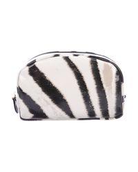 Roberto Cavalli - Metallic Zebra Print Cosmetic Bag White - Lyst