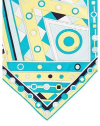 Emilio Pucci | Blue Abstract Printed Scarf Turquoise | Lyst