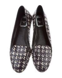 Dior - Black Python Round-toe Flats - Lyst