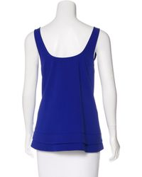 Proenza Schouler - Blue Silk Sleeveless Blouse - Lyst
