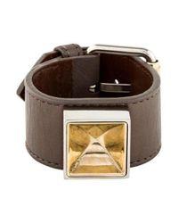 Proenza Schouler - Metallic Ps11 Leather Bracelet Silver - Lyst