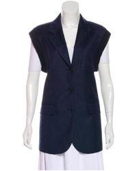 Sonia Rykiel - Blue Wool Pinstripe Vest - Lyst