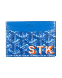 Goyard - Blue 2015 Saint Sulpice Card Holder W/ Tags - Lyst