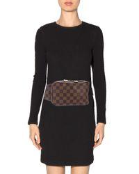 Louis Vuitton - Natural Damier Géronimos Waist Bag Brown - Lyst