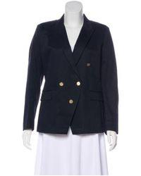 Boy by Band of Outsiders - Blue Structured Peak-lapel Blazer Navy - Lyst