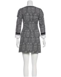 Andrew Gn - Black Patterned Mini Skirt Suit - Lyst