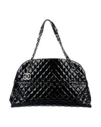 Lyst - Chanel Xl Just Mademoiselle Bowler Bag Black in Metallic 8d63de83aef26