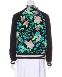 Lovers + Friends - Green Floral Bomber Jacket - Lyst