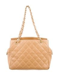 Chanel - Metallic Petite Timeless Tote Tan - Lyst