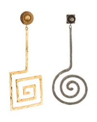 Jacquemus - Metallic La Spirale Drop Earrings Gold - Lyst