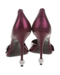 Roger Vivier - Metallic Jewel Panel Pumps Purple - Lyst