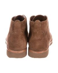 Loro Piana - Brown Suede Lace-up Boots - Lyst