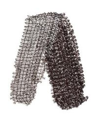 Marc Jacobs - Black Open Knit Embellished Scarf - Lyst