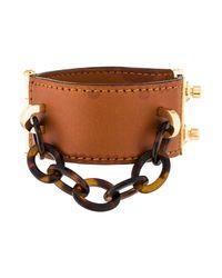 Louis Vuitton - Metallic Lock Me Nomade Cuff Bracelet Brown - Lyst