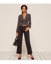 Reformation | Black Toulouse Top | Lyst