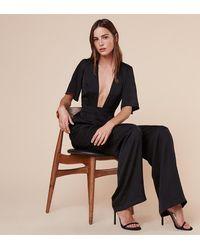 Reformation - Black Cannes Jumpsuit - Lyst
