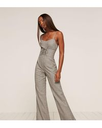 Reformation - White Warner Jumpsuit - Lyst