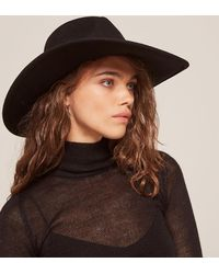 Reformation | Black Dorfman Pacific Big Brim Safari Hat | Lyst