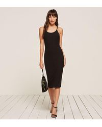 Reformation - Black Hana Dress - Lyst