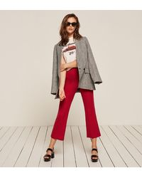 Reformation - Red Joss Pant - Lyst