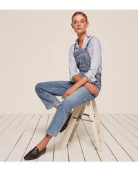 Reformation - Blue Johnny Overalls - Lyst