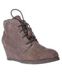 Madden Girl | Brown Dallyy Lace Up Wedge Ankle Booties | Lyst