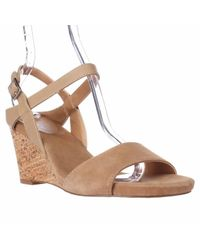 Tahari | Brown Fun Ankle Strap Wedge Sandals | Lyst