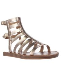 Steve Madden | Metallic Beeast Flat Gladiator Sandals | Lyst