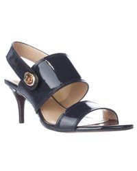 COACH - Blue Marla Turnlock Slingback Dress Sandals - Lyst