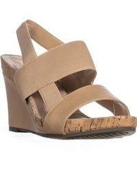 6cdb3b98b6 Lyst - Aerosoles Magnolia Plush Wedge Sandals