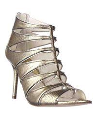 Michael Kors   Metallic Michael Mavis Open Toe Evening Dress Sandals   Lyst