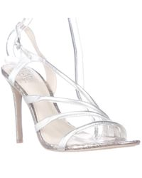 Vince Camuto | Metallic Tiernan Slingback Strappy Dress Sandals | Lyst