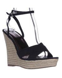 Madden Girl | Black Viicki Wedge Espadrille Sandals | Lyst