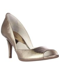 Michael Kors Metallic Mk Flex D`orsay High Heel Court Shoes