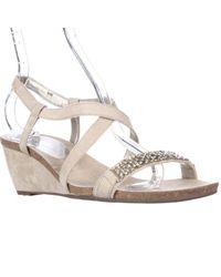 Anne Klein | Brown Jasia Strappy Wedge Sandals | Lyst