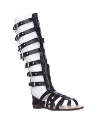 Madden Girl | Black Penna Knee-high Gladiator Sandals | Lyst