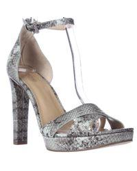 Michael Kors | Natural Michael Divia Ankle Strap Platform Sandals | Lyst