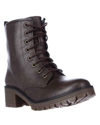 Madden Girl | Brown Eloisee Lace-up Combat Boots | Lyst