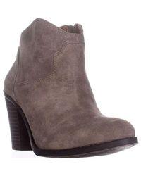 Lucky Brand - Brown Eller Short Western Boots - Lyst
