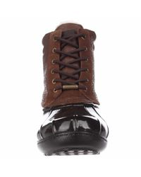 Michael Kors - Brown Michael Easton Bootie Short Logo Rainboots - Dark Caramel - Lyst