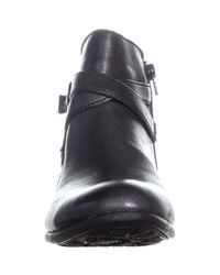Born - Arcadia Ankle Buckle Zip Up Boots, Black - Lyst