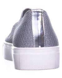 Steve Madden - Metallic Steven Kai Slip On Sneakers, Silver - Lyst