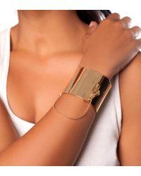 Eddie Borgo Metallic Wide Safety Chain Cuff