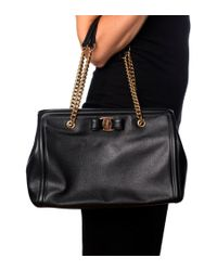 Ferragamo - Black Medium Melike Handbag - Lyst