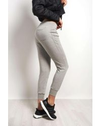 Beyond Yoga - Gray Fast Track Moto Paneled Sweatpants - Lyst
