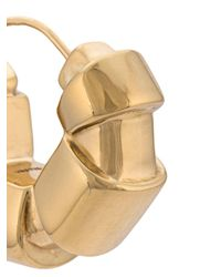 Ellery - Metallic Gold Tubular Hoop Earrings - Lyst