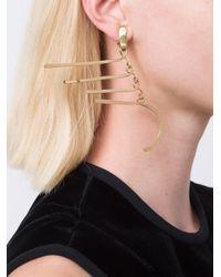 Aurelie Bidermann - Metallic 'vera' Earrings - Lyst