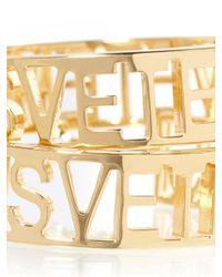 Vetements - Metallic '' Logo Logo Small Hoop Earrings - Lyst