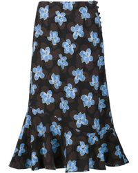 SUNO | Multicolor Floral Print Skirt | Lyst