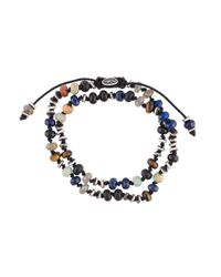 M. Cohen | Multicolor 'two-layer Templar Gems' Bracelet for Men | Lyst